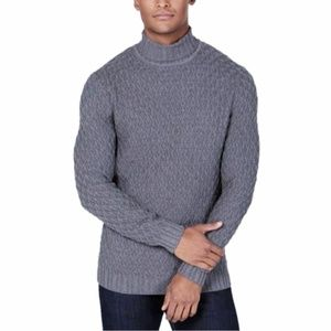 Tasso Elba Chunky Y Cable Knit Turtleneck Sweater
